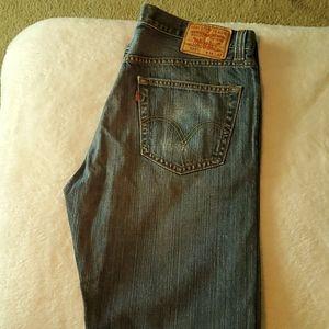 Mens Levi 505 34x32 jeans